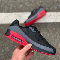 Кроссовки Winter Black Gray Red 008
