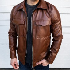 Кожаная куртка React Art.9366