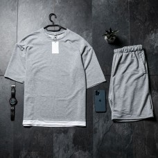 Летний комплект футболка + шорты Oversize Gray FS