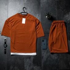 Летний комплект футболка + шорты Oversize Mustard FS