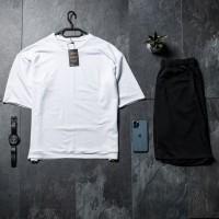 Летний комплект футболка + шорты Oversize White Black FS