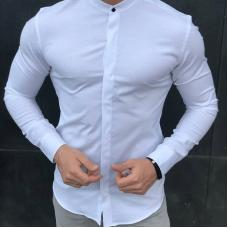 Рубашка стойка Black Panther White