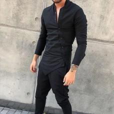 Рубашка с косой планкой Black Panther Black