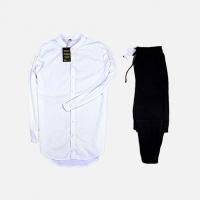 Комплект рубашка + брюки Cold Ice White Black
