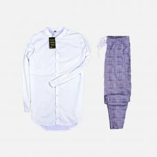 Комплект рубашка + брюки Cold Ice White Facets