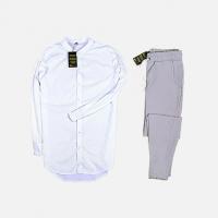 Комплект рубашка + брюки Cold Ice White Gray
