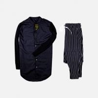 Комплект рубашка + брюки Cold Ice Black Stripe