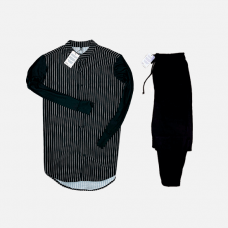 Комплект рубашка + брюки Cold Ice Stripe Night